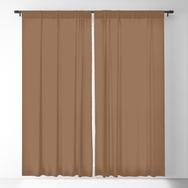 Dunn & Edwards 2019 Curated Colors Cedar Chest (Rich Warm Brown) DE6112 Solid Color Blackout Curtain