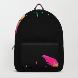 Owl Heartbeat Water Colors Backpack