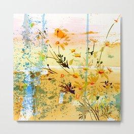 flowers at the beach Metal Print