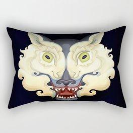 Wolf Lamb Rectangular Pillow