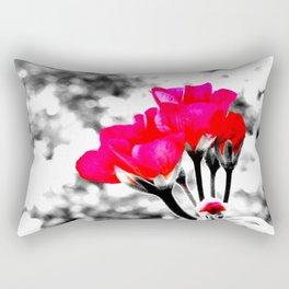 Hot Pink Flowers Pop Of Color Rectangular Pillow