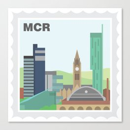 City Stamps - Manchester Canvas Print
