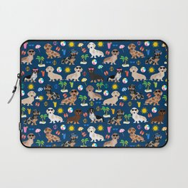 Dachshund beach sunshine summer days doxie dachsie gift must have dog gifts Laptop Sleeve