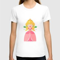 princess peach T-shirts featuring Peach by Khatii