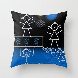 stick figures -30- Throw Pillow