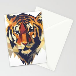 HEAD TIGER LOWPOLY STYLE Stationery Cards
