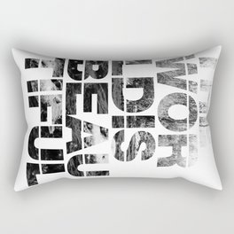 The World is Beautiful Rectangular Pillow