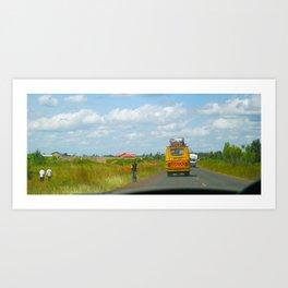 The Road to Kitui / Kenya Art Print