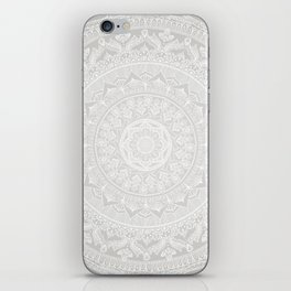 Mandala Soft Gray iPhone Skin