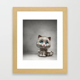 gray kitten Framed Art Print