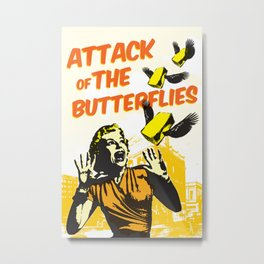 Attack of the Butterflies Metal Print