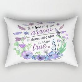 The heart is an arrow Rectangular Pillow