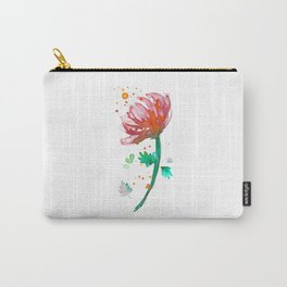 Warm Watercolour Fiordland Flower Carry-All Pouch