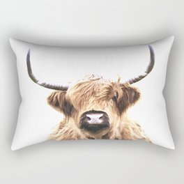 Highland Cow Portrait Rectangular Pillow