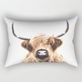 Highland Cow Portrait Rectangular Pillow