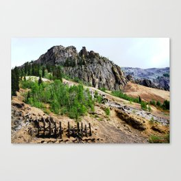 Sunnyside Mill and Rocky Crags Towering Overhead Canvas Print