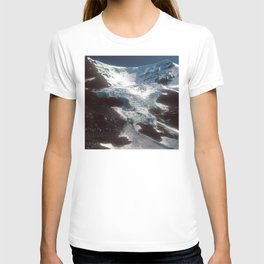 Jaw-dropping Canadian Glacier Cascading Down Mountainside T-shirt