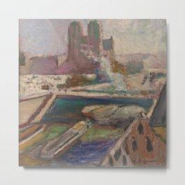 Henri Matisse - Notre-Dame on the River Seine, Paris, France landscape painting Metal Print