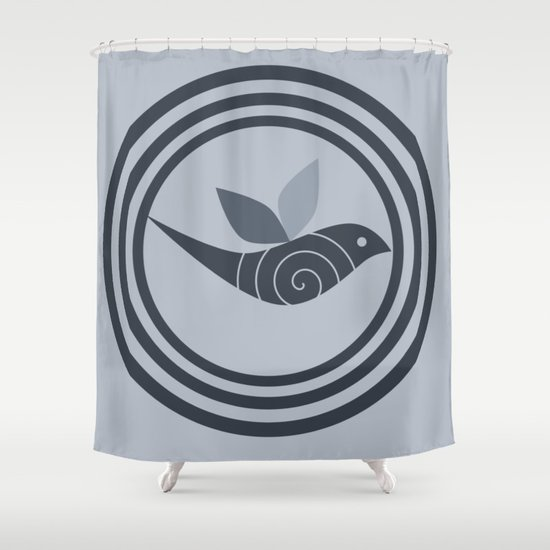 bird and circles Shower Curtain by abstractify | Society6