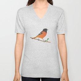 Baltimore Oriole Bird Unisex V-Neck