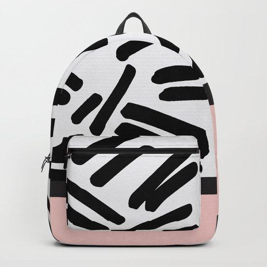 Patterned & Pink Backpack