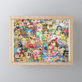 Nintendo Tribute Framed Mini Art Print