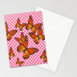 SUMMER MONARCH BUTTERFLIES OPTIC ART Stationery Cards