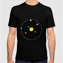 Solar System - Minimalism Abstract Pastel Colours T-shirt