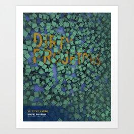 Dirty Projects at Bowery Ballroom Art Print