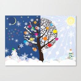"""Seasons"" Happy New Year Canvas Print"