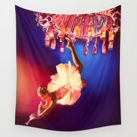 chandelier Wall Tapestries featuring Lady Chandelier by Ginger Del Rey