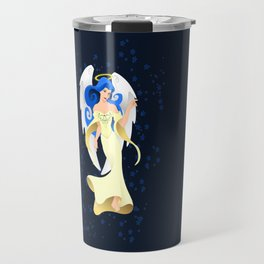Blue Hair Angel Travel Mug