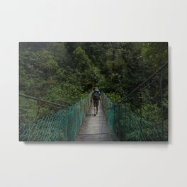 Bridge Walks Metal Print