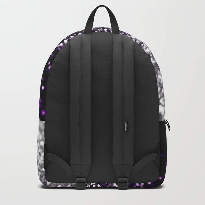 Dark Night Purple Black Silver Glitter #1 #shiny #decor #art #society6 Backpack