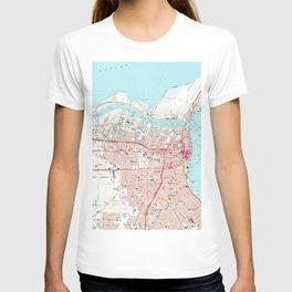 Vintage Map of Corpus Christi Texas (1968) T-shirt