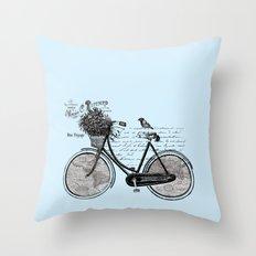 World Tour ~ Blue Throw Pillow