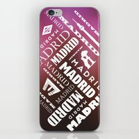 madrid iPhone & iPod Skins featuring Madrid by Rafael CA