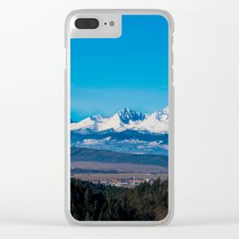 View of Tatra Mountains from Slovak Paradise National Park Clear iPhone Case