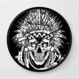INVASION - Black and white variant Wall Clock