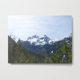 View from Whistler, North Vancouver Metal Print