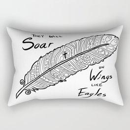 Wings Like Eagles Rectangular Pillow