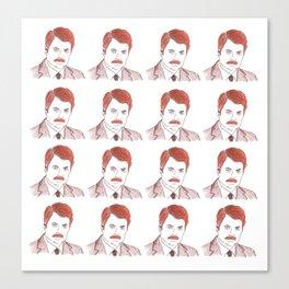 "Ron Swanson ""Diptych"" Canvas Print"