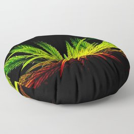 Rasta Plant Glows (The Healing of the Nations) Floor Pillow