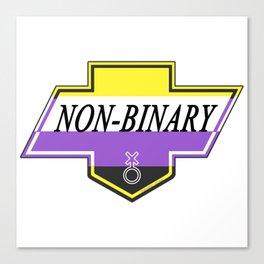 Identity Stamp: Non Binary Canvas Print