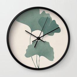 Ginko Leaves Wall Clock