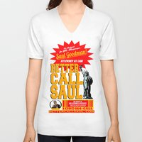 better call saul V-neck T-shirts featuring BETTER CALL SAUL  |  BREAKING BAD by Silvio Ledbetter