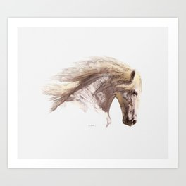 Silverwind - A Pegasus Stallion Study Art Print