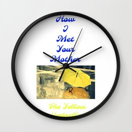 How I Met Your Mother - The Yellow Umbrella Wall Clock