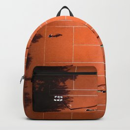 Tennis court orange Backpack
