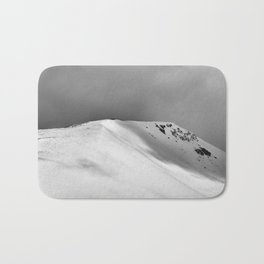 Snow Covered Mountain Slope Bath Mat